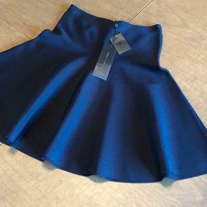 BCBG BCBGMAXAZRIA Ingrid Black A-Line Skirt XS